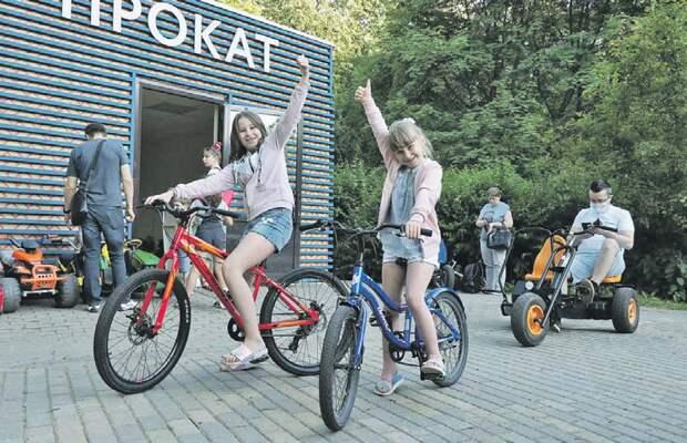 Пункт проката в парке «Северное Тушино» пользуется популярностью/ Ольга Чумаченко