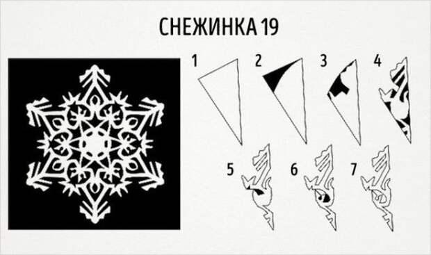 20 замечательных трафаретов-снежинок из бумаги