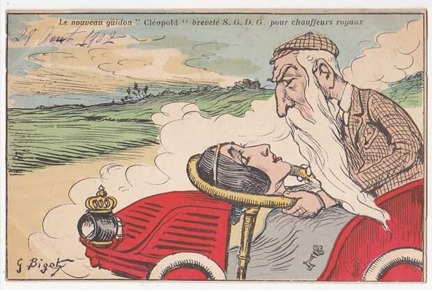Карикатура на короля Бельгии Леопольда.