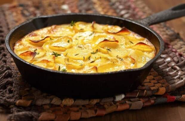 Картошка по-французски: делаем картофель как пирог