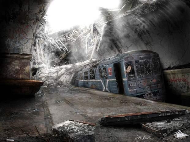 Московское метро в русском искусстве (КАРТИНЫ)
