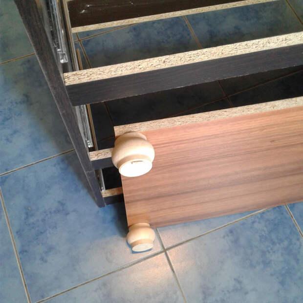 Обновление старого комода — меловая краска, лепнина, молды