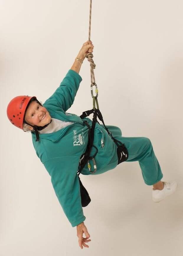 Дорис Лонг, 100 лет, занялась промышленным альпинизмом в 85 лет
