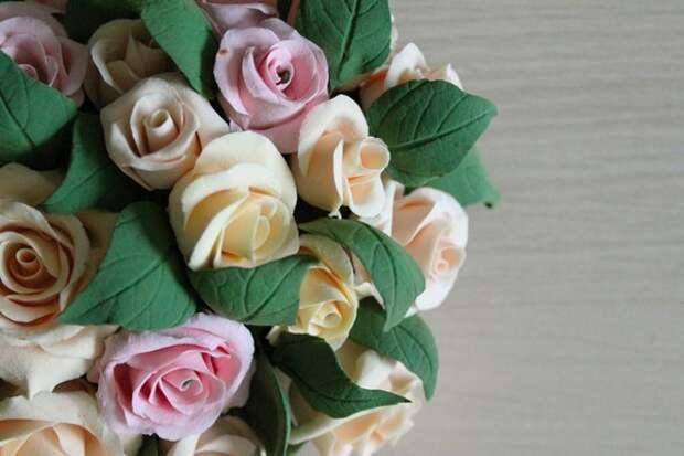 Лепка цветов из полимерной глины: делаем сердце из роз (2/2)