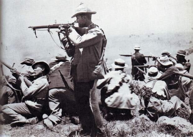Пока русский с японцем колют друг друга штыками, бур застрелит десятерых