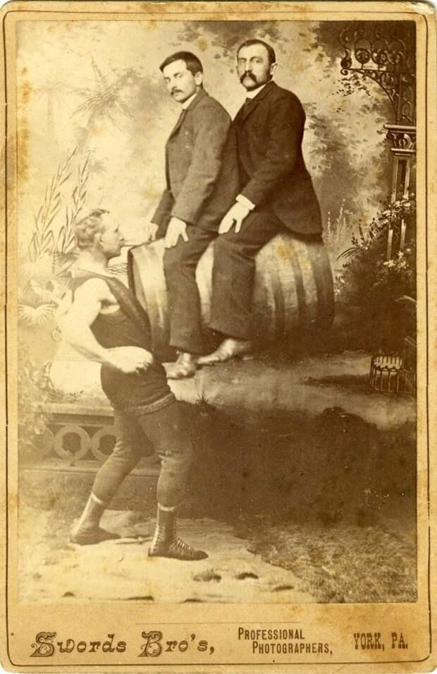 Самый сильный человек того времени интересное, прошлое, фото, цирк