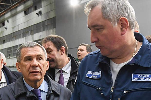 Рустам Минниханов и Дмитрий Рогозин