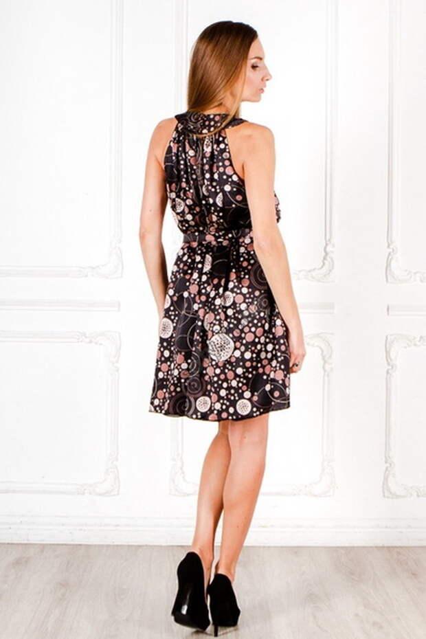 Выкройка нарядного шёлкового платья