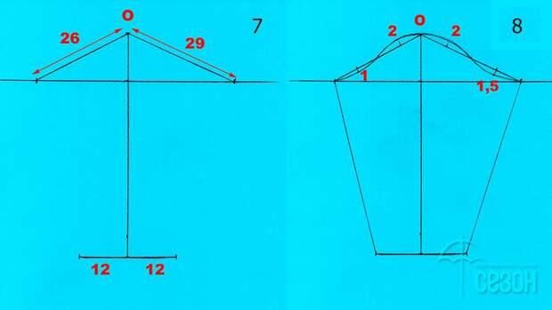 Моделирование V-образной горловины со складками 4