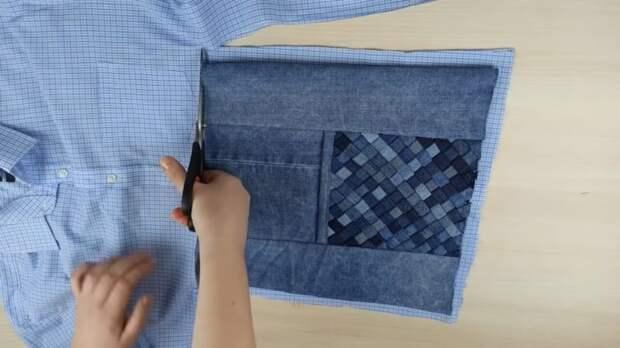 Удивительный способ утилизации старых джинсов