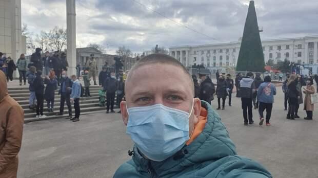 Крымский депутат поддержал протестовавших за Навального в Симферополе