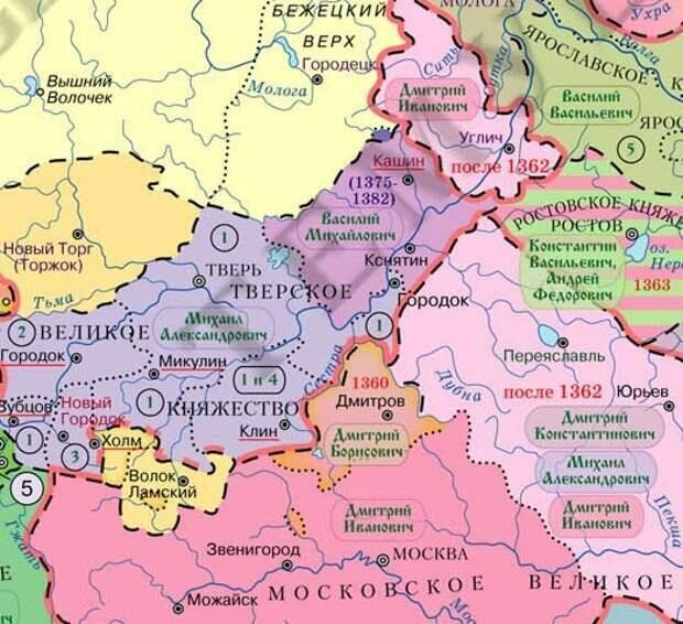 Причины вражды тверских и московских князей. Смерть Александра Невского