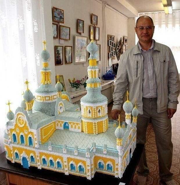 Сергей Тарасов - мастер модульного оригами. Какой труд!