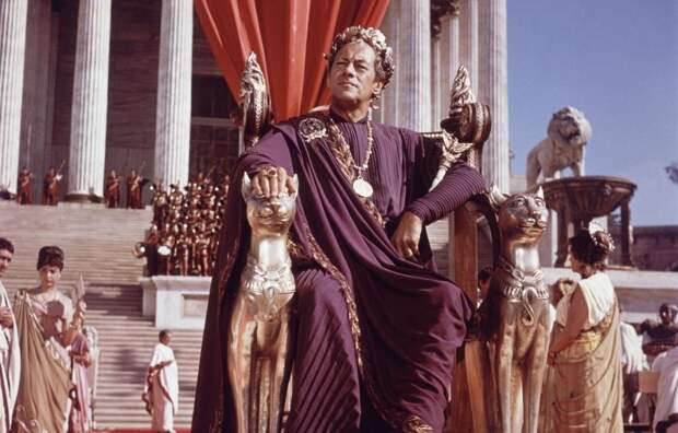 Цезарь. Кадр из фильма «Клеопатра», 1963 г.
