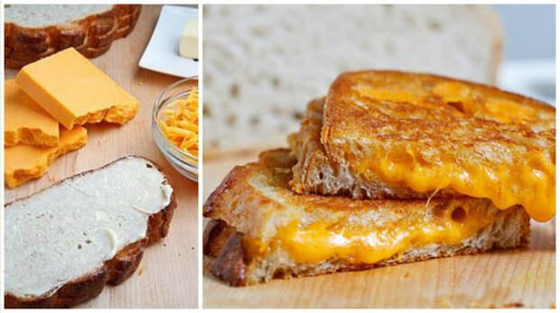 1. При приготовлении горячих бутербродов с сыров в гриле убедитесь, что все ингредиенты - комнатной температуры кулинария, повар от бога, приготовление еды, секреты, хитрости на кухне.