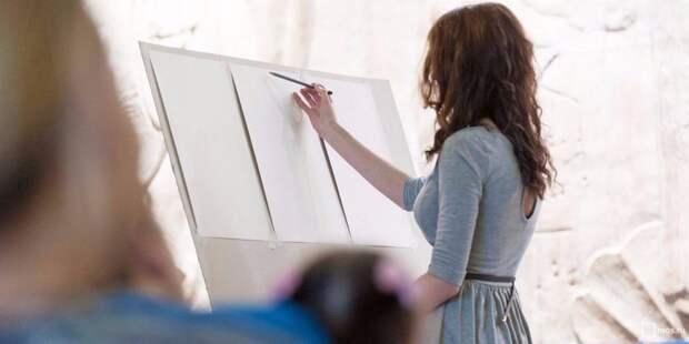 Урок дизайна. Фото: mos.ru