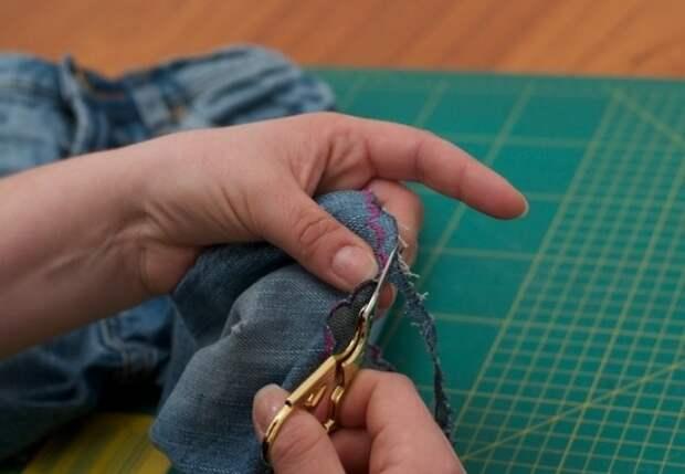 Удлинение детских джинсов своими руками (diy)