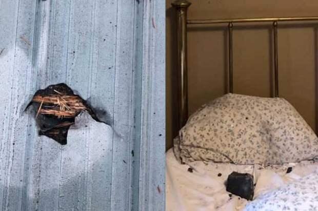 В Канаде женщину разбудил метеорит, который пробил крышу ее дома и упал на ее подушку
