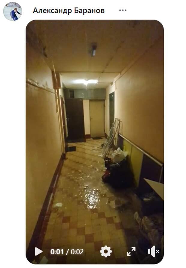 «Жилищник» спас жителей от потопа в доме на Юных Ленинцев