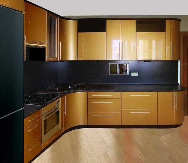 Кухня под золото