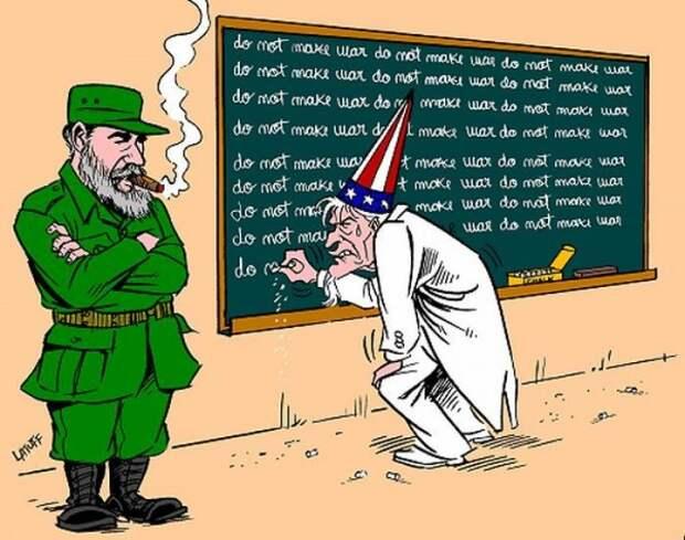 История отношений Кубы и США в карикатурах Латуффа