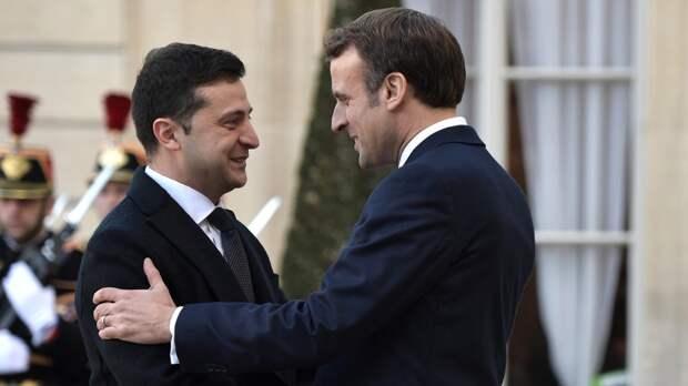 Зеленский объяснил затянувшуюся встречу с Макроном настойчивостью Украины