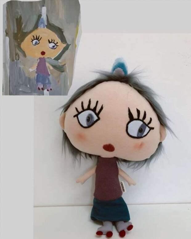 Девушка создает игрушки по детским рисункам. А попутно дарит веру в волшебство даже неисправимым скептикам