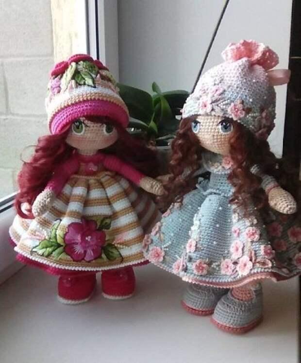 Нежнейшие, милейшие куколки, связанные своими руками)) Как Вам творчество?