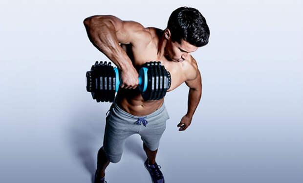 Как накачать мышцы гантелью