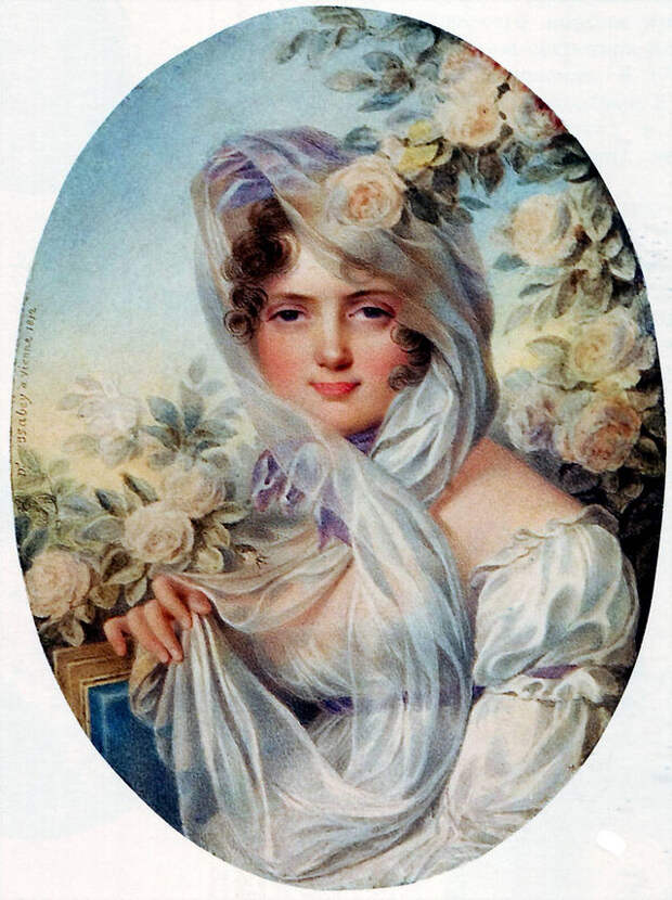 Портрет княгини Е. П. Багратион. Карл Людвиг Хуммель де Бурдон. 1812