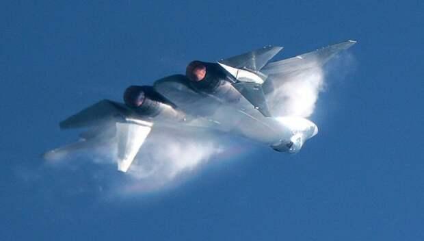Появились кадры новейших истребителей СУ-57 в действии (ВИДЕО)