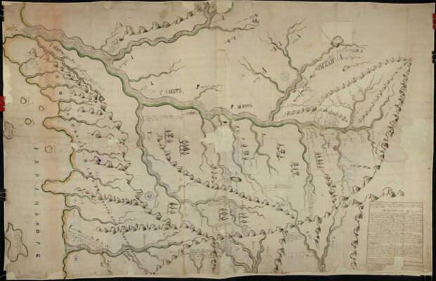 Чертеж реки Амура 1699 года