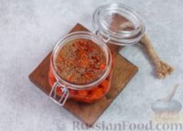Фото приготовления рецепта: Острая морковь в горчичном масле - шаг №8