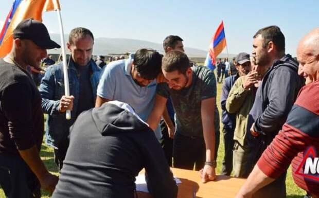 Вербовка бойцов в Самцхе-Джавахети, призыв армянских националистов к войне с Грузией