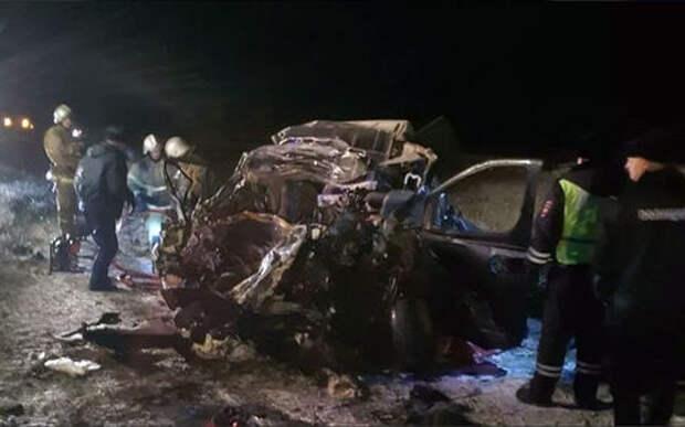 Водитель микроавтобуса на встречке убил себя и четырех пассажиров