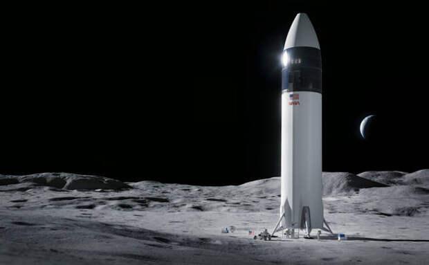 SpaceX получила контракт на доставку астронавтов на Луну