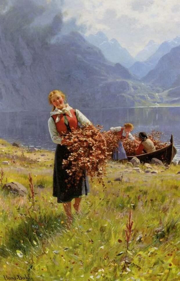 Национальный Норвежский колорит в картинах Ханса Даля.