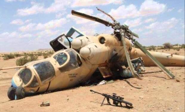 В Эфиопии боевики сбили вертолёт Ми-35, экипаж погиб