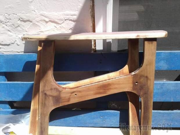 Восстановление в стиле пэчворк старого кресла