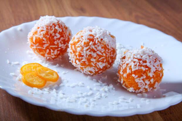 Морковные конфеты. \ Фото: liveinternet.ru.