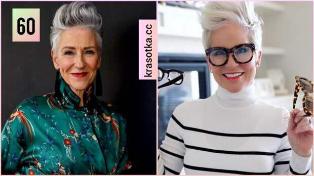 Стрижка андеркат для женщин 60 лет: 10 стильных вариаций