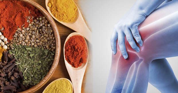 Польза природных специй для борьбы с болью в коленном суставе