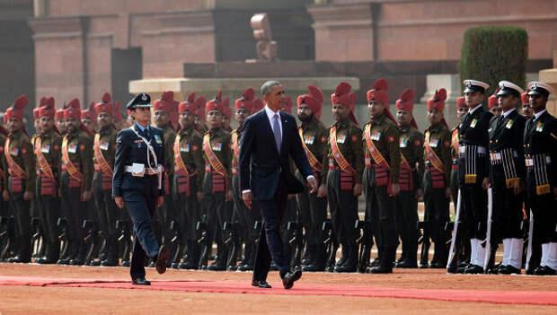 Обаме на параде в Индии показали российскую технику
