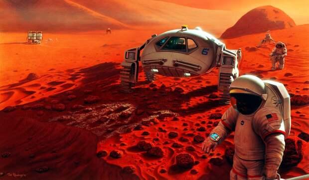 С высокой долей вероятности колония на Марсе действительно появится и к 2050 году может достичь солидных размеров – хотя и, определенно, не будет иметь миллионного населения /© Wikimedia Commons