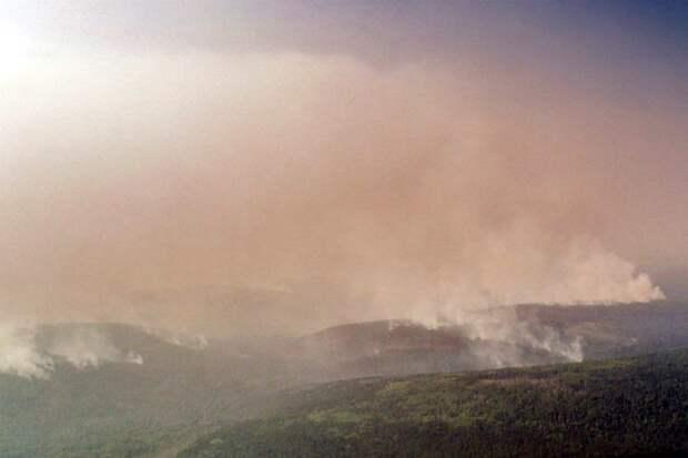 В окрестностях Култука — сплошная дымовая завеса