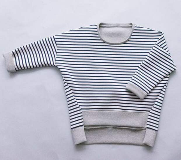 необыкновенная тельняшка свитер в полоску
