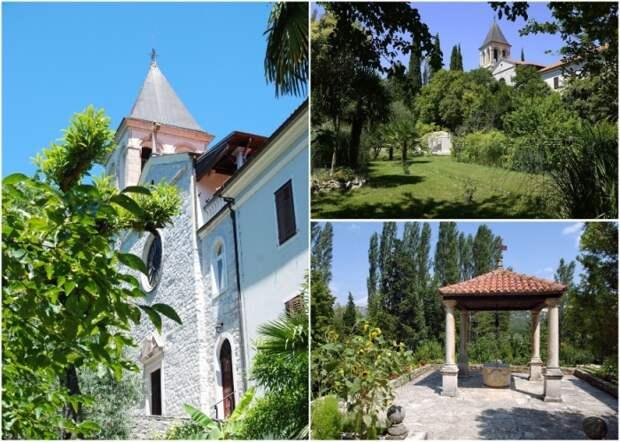 Территория острова-монастыря Висовац (Хорватия). viagallica.com.