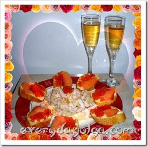 меню романтического ужина дома