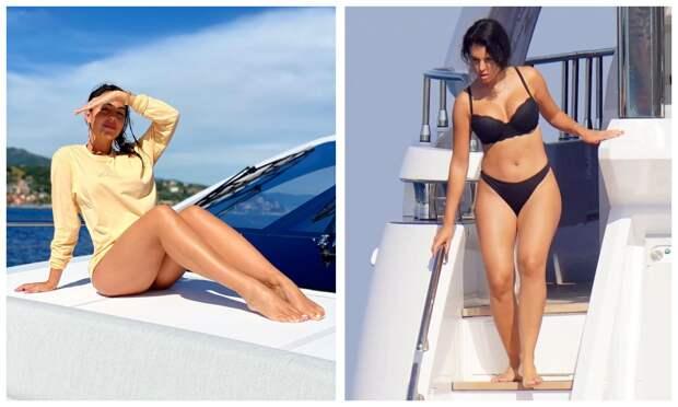 Морская богиня: Жоржина Родригес показала великолепную фигуру наотдыхе сКриштиану Роналду