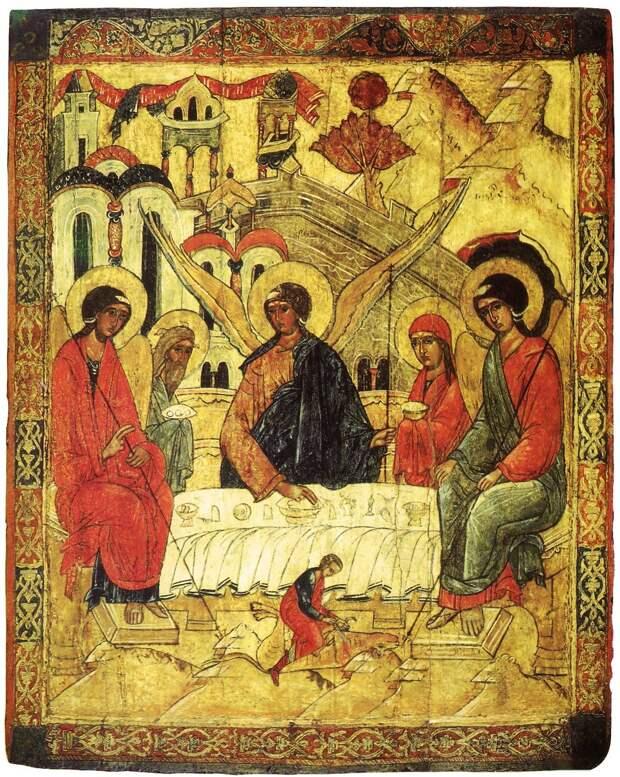 Троица Ветхозаветная. Конец XVI — начало XVII вв. Москва, ГТГ